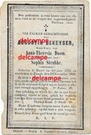 Doodsprentje Augustin Dekeyser Moere 1793 En Overleden Te Zande 1869 Doom Strubbe Koekelare Ichtegem Gistel Bidprentje - Devotieprenten