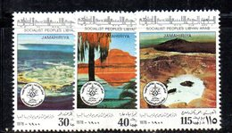 APR2307 - LIBIA LYBIA 1978 , Serie Yvert  N. 703/705  ***  MNH - Libia
