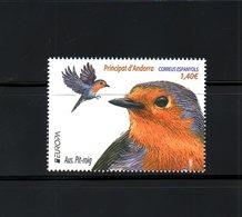 ANDORRA SP., 2019, BIRDS, EUROPA, 1v.,  MNH**NEW! - Birds