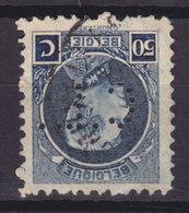 Belgium Perfin Perforé Lochung 'C.L.' Credit Lyonnais Mi. 166C, 50c. Albert I. Stamp Perf. 11x11½ (2 Scans) - Perfins
