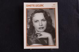 Sp-Actrice, Française, 1945 - Ginette Leclerc - Née En 1912 à Paris, Morte En 1992 à Paris . - Acteurs