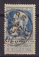 Belgium Perfin Perforé Lochung 'N&G.' Mi. 73, 25c. Leopold Stamp ANVERS DEPART Cancel (2 Scans) - Perfins