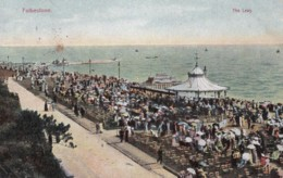 AO96 Folkestone, The Leas - 1906 Postcard - Folkestone