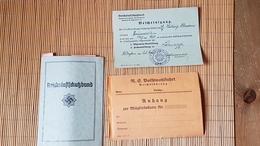 Reichsluftschutzbund RLB Mitgliedsausweis + Lehrgangsbescheinigung - Dokumente