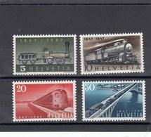 Suisse - 1947 - Neuf** - N° YT 441/444 - Centenaire Des Chemins De Fer Fédéraux - Svizzera