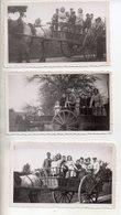 REF 413 : Photo Originale - Lot De 3 Beau Plan Attelage Famille Dans Une Charette Datée 11/1943 Et 08/45 11x7cm - Persone Anonimi
