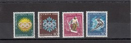 Suisse - 1948 - Neuf** - N° YT 449/452 - J.O  St Moritz - Svizzera