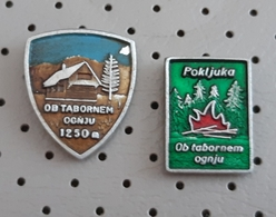 Scout Scouts , Campfire, Camp Fire Pokljuka Slovenia Pins - Associazioni