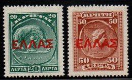 S165.-. CRETE - 1909-1910 - SC#: 115,117 - MNG  - OVERPRINTED - Kreta