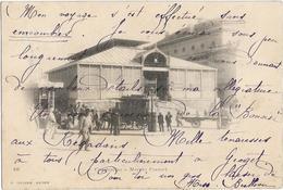 ALGERIE - CONSTANTINE - MARCHE COUVERT - Charrette-Calèche-Quelques Personnes - PRECURSEUR - Constantine