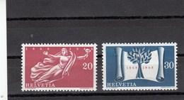 Suisse - 1948 - Neuf** - N° YT 455/456 - Centenaire De L'Etat Confédéral Actuel - Svizzera