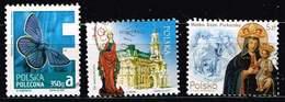 Polen 2013/17, Michel# 4627, 4956, 4940 O Insekten: Schmetterling/ Nowy Sącz/Holy Mary Of Piekary - Used Stamps