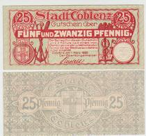 Notgeld Coblenz 25 Pf.1920 - [11] Lokale Uitgaven