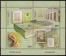 Argentina - 2000 - Bibliothèques Argentines - Blocks & Kleinbögen