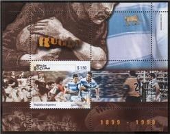 Argentina - 1999 - 1899 - 1999 - 100 Ans De Rugby - Hojas Bloque