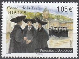 Andorre Français 2019 600 Ans Conseil De Terre Neuf ** - Andorre Français