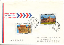 Morocco Air Mail Cover Sent To Denmark 6-5-1976 - Morocco (1956-...)