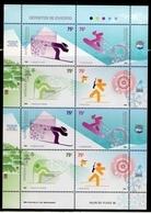 Argentina - 2006 - Sports D'hiver - Deportes De Invierno - Yvert 2610 / 2613 - Blocks & Kleinbögen