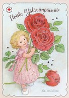 Postal Stationery - Girl Holding Roses - Flowers - Happy Valentine's Day - Red Cross 2019 - Suomi Finland - Postage Paid - Finlande
