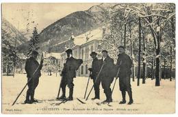CAUTERETS - Hiver - Esplanade Des Oeufs Et Pèguère - Alt. 933-1721 Ed. Couget 1, Envoi 1909, Cachet Hotel Pont D'Esp. - Cauterets