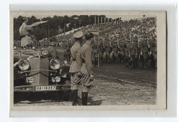 Foto AK Sw  Adolf Hitler1935 Parade Nürnberg Auto - Weltkrieg 1939-45