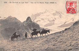 De Zermatt Au Lac Noir - Vue Sur Le Monte Rosa - Mulets - VS Valais
