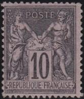 France  .   Yvert   .     89      .      (*)      .       Pas De Gomme  .  /   . No Gum - 1876-1898 Sage (Type II)