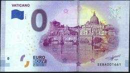 Zero - BILLET EURO O Souvenir - VATICANO 2019-1set UNC {Italy} - EURO