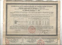 Obligation De 500 Frs , Conseil De La Dette Publique De L'ancien Empire Ottoman ,5 % 1914 , Frais Fr 1.95 E - Shareholdings