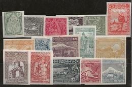Arménie 1921-1922 N°Y.T. :  102 à 117 * - Armenia