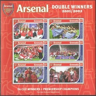 Soccer Football 2002 Grenada KB 5114/9 Arsenal MNH ** - Famous Clubs