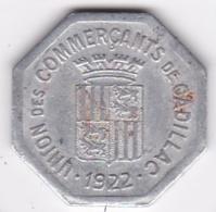33. Gironde. Union Des Commercants De Cadillac. 25 Centimes, En Aluminium - Monétaires / De Nécessité