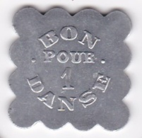 Jeton BAL – BON POUR UNE DANCE En Aluminium Carré Lobé - Monetari / Di Necessità