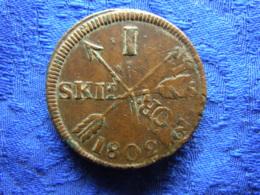 SWEDEN 1 SKILLING 1802, KM566, OVER 2 ORE SM 1751 - Schweden