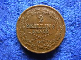 SWEDEN 2 SKILLING 1847, KM664 Peck - Schweden