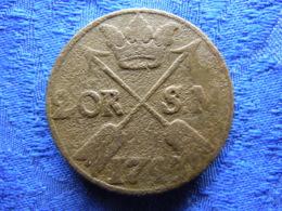 SWEDEN 2 ORE SM. 1743, KM437 Corroded - Schweden