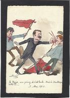 CPA Bobb Satirique Caricature Non Circulé Dessin Original Fait Main Dunkerque Manifestations 1910 - Satira