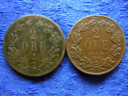 SWEDEN 2 ORE 1857 Corroded, 1858, KM688 - Schweden