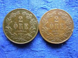SWEDEN 2 ORE 1864, 1872, KM706 - Schweden