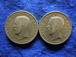 SWEDEN 1 KRONA 1930, 1932, KM786.2 - Schweden