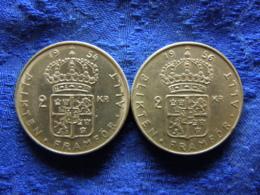SWEDEN 2 KRONOR 1954, 1956, KM827 - Schweden