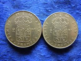 SWEDEN 2 KRONOR 1963, 1966, KM827 - Schweden