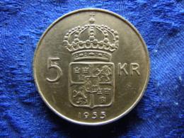 SWEDEN 5 KRONOR 1955 POS.B, KM829 Scratched - Schweden