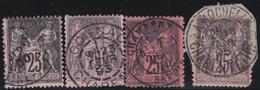 France  .   Yvert   .     97  4x     .        O          .        Oblitéré - 1876-1898 Sage (Type II)