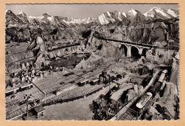 AK Interlaken, Modell-Eisenbahn Heimwehfluh, Gel. 1951 - BE Bern
