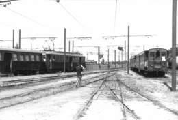 "08541 ""ELETROMOTRICE E CARROZZE PASSEGGERI (VOGHERA?)"" ANIMATA. TRENI. FOTO. ORIG. - Treni"