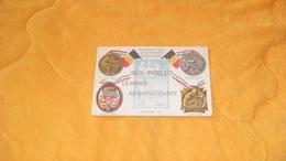 CARTE POSTALE ANCIENNE CIRCULEE DATE ?.../ AUX POILUS LA PATRIE RECONNAISSANTE...AU DOS PRIX DES DRAPEAUX ALLIES.. - Patriottisch