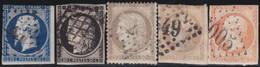 France  .   Yvert   .     5  Timbres       .        O          .        Oblitéré - 1871-1875 Ceres