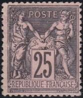 France  .   Yvert   .     97      .       (*)          .     Pas De Gomme  .  /  .  No Gum - 1876-1898 Sage (Type II)