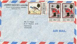 Trinidad & Tobago Air Mail Cover Sent To Denmark 22-9-1972 (1 Of The Stamps Damaged) - Trindad & Tobago (1962-...)